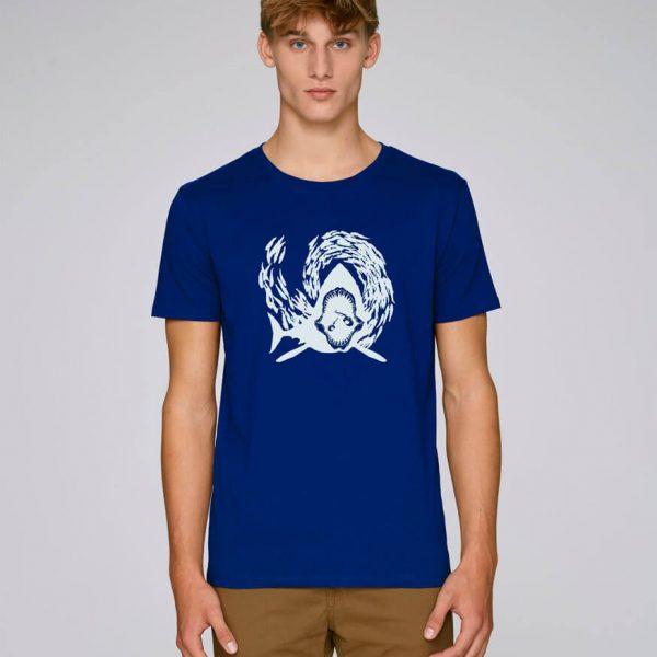 camiseta azul klein hombre sharking | Bonealive