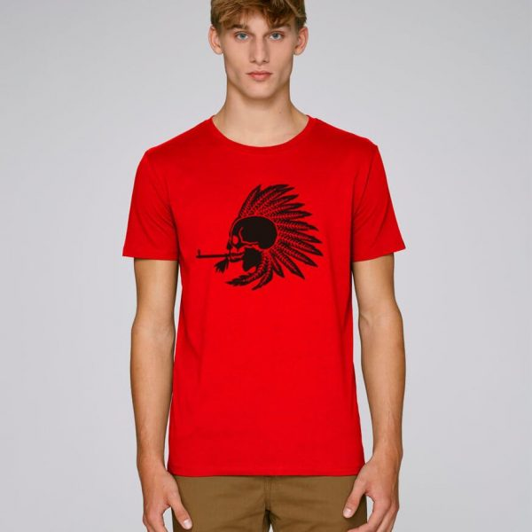 camiseta roja hombre indian pipe | Bonealive