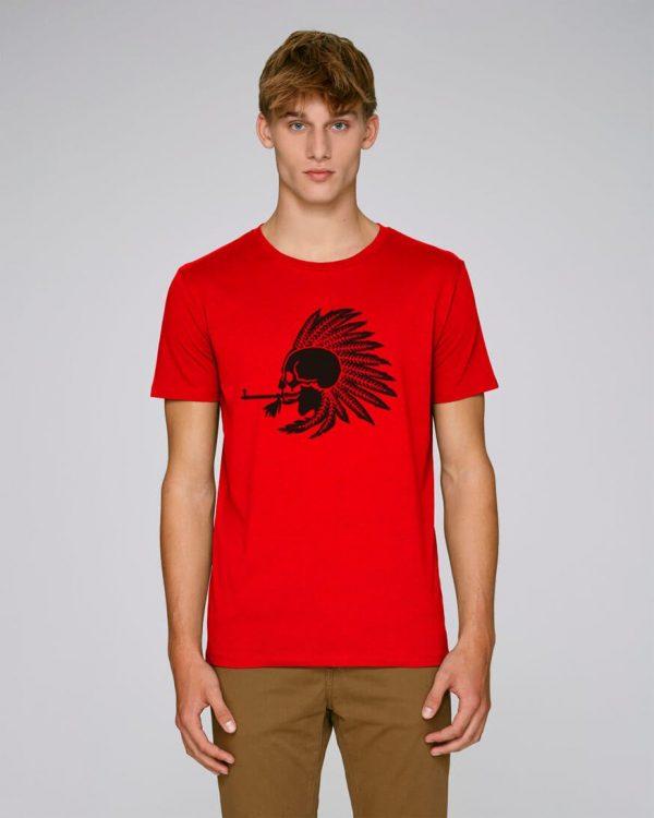 camiseta roja hombre indian pipe | Bonealive