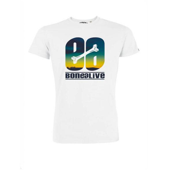 camiseta blanca logo Bonealive