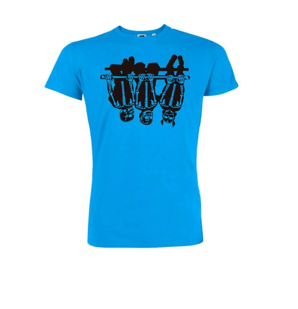 azul turquesa camiseta