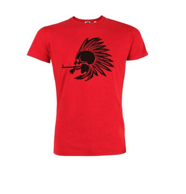 camiseta roja algodón orgánico