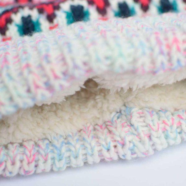 Gorro de lana detalle forro interior