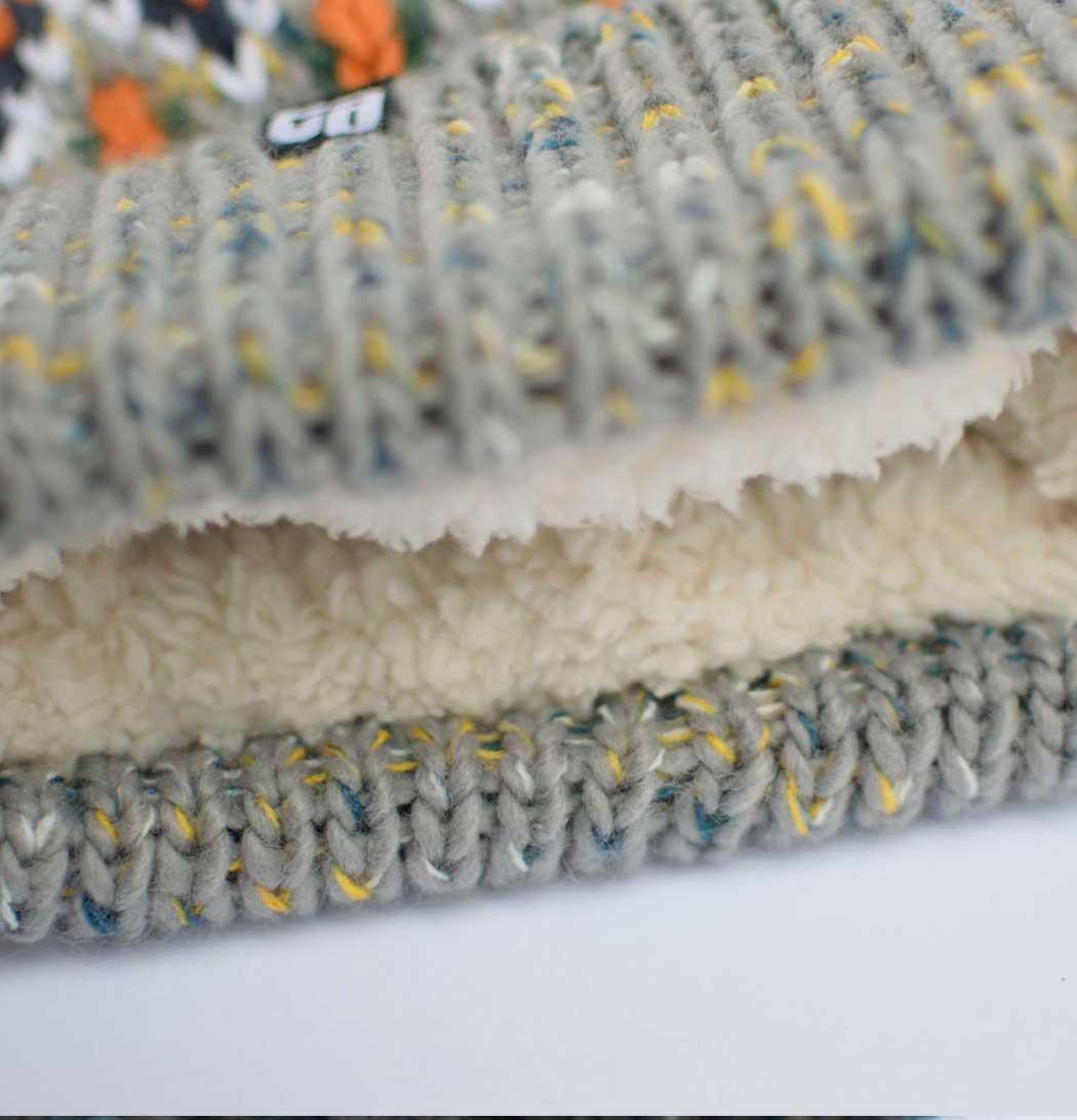 Gorro de lana Nepal detalle forro interior