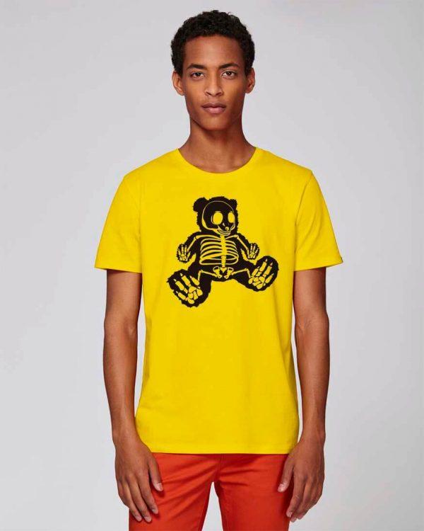 camiseta amarilla estampado original bear hug | Bonealive
