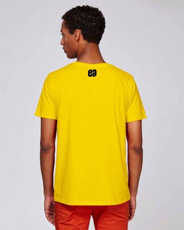 camiseta amarilla hombre bear hug | Bonealive