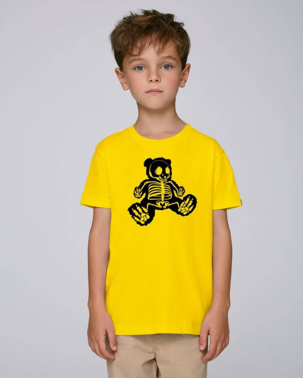 camiseta amarilla niño bear hug | Bonealive