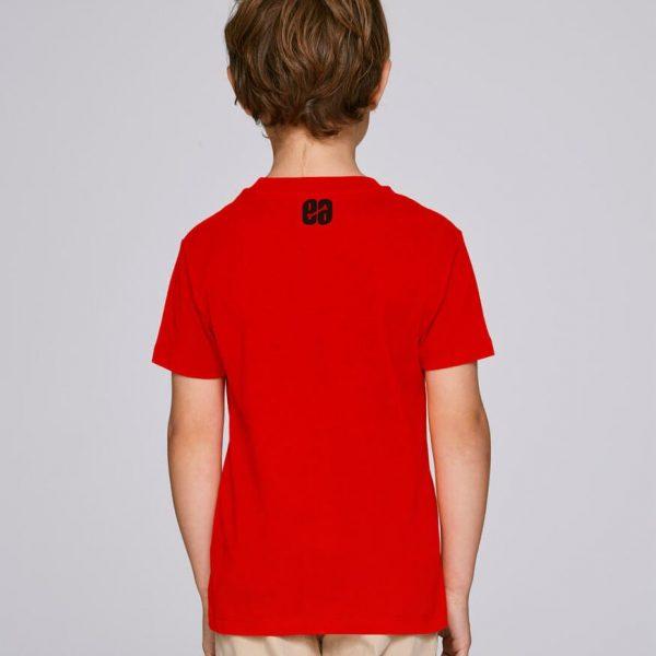 camiseta infantil roja Bonealive