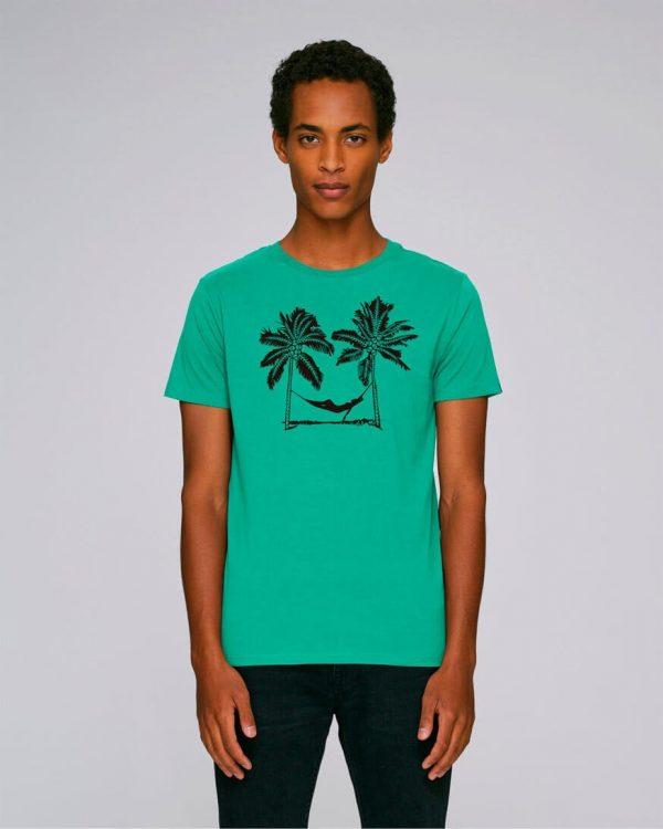 camiseta verde estampada pal beach | Bonealive