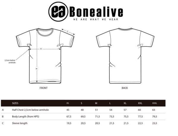 guia de tallas camisetas Bonealive