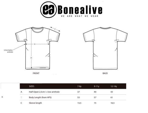 guia de tallas camisetas niño | Bonealive