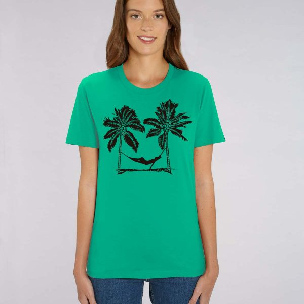 Camiseta verde Mujer Palm Beach