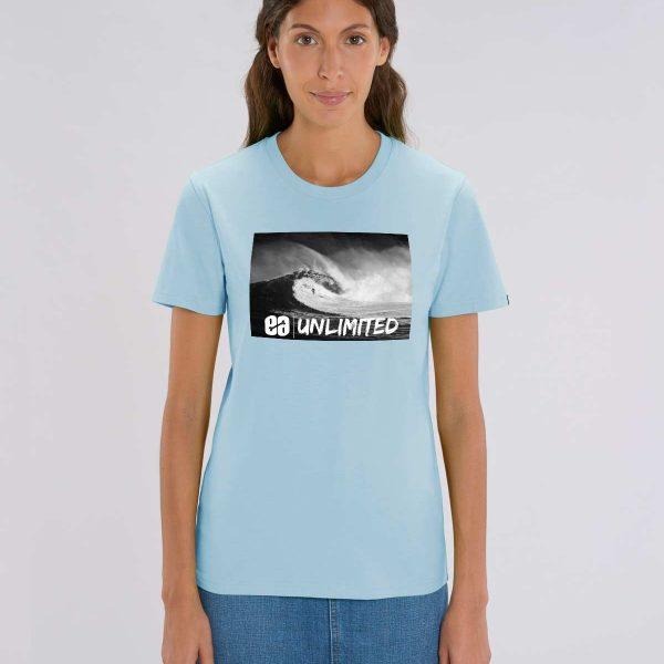 Camsieta azul cielo mujer Pipeline