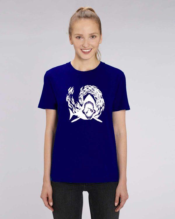 camiseta azul marino mujer Sharking